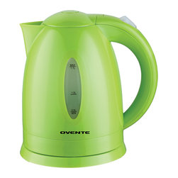 Ovente - Ovente Green 1.7-liter Cord-Free Electric Kettle - Boil water quickly and easily with this green electric kettle. It holds up to 1.7 liters of water, and the cord wraps around its base for easy pouring and serving. It has an automatic shut-off, and it won't boil dry. An instruction manual is included.