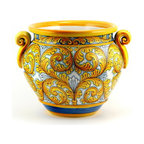 Artistica - Hand Made in Italy - SICILIANA SCIACCA: Large Cachepot/Planter - SICILIANA SCIACCA Collection