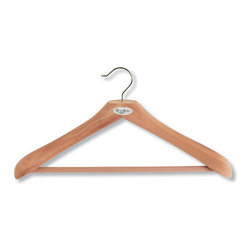Superior Cedar Coat Hanger With Trouser Bar - While I tend to prefer slim velvet hangers for everyday use, it would be a sweet gesture to kick it up a notch and pick up these sturdy cedar hangers for the guest room closet. They'll appreciate being able to take their jackets, sweaters and dresses out of their suitcases and allowing those wrinkles to release.