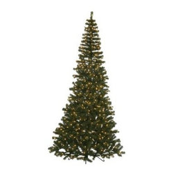 7.5 ft. Green Corner Pre-Lit Christmas Tree - Save space while brightening up your holiday decor with the 7.5 ft. Green Corner Pre-Lit Christmas Tree. This tree offers a realistic look with PVC branches that give it a slim profile. Its corner design saves space in smaller rooms. Festive clear mini-lights add a warm glow to your setting.Don't Forget to Fluff!Simply start at the top and work in a spiral motion down the tree. For best results, you'll want to start from the inside and work out, making sure to touch every branch, positioning them up and down in a variety of ways, checking for any open spaces as you go.As you work your way down, the spiral motion will ensure that you won't have any gaps. And by touching every branch you'll create the desired full, natural look.About VickermanThis product is proudly made by Vickerman, a leader in high quality holiday decor. Founded in 1940, the Vickerman Company has established itself as an innovative company dedicated to exceeding the expectations of their customers. With a wide variety of remarkably realistic looking foliage, greenery and beautiful trees, Vickerman is a name you can trust for helping you create beloved holiday memories year after year.