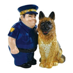Westland - 4.25 Inch Happy Police Officer and Police Dog Salt and Pepper Shakers - This gorgeous 4.25 Inch Happy Police Officer and Police Dog Salt and Pepper Shakers has the finest details and highest quality you will find anywhere! 4.25 Inch Happy Police Officer and Police Dog Salt and Pepper Shakers is truly remarkable.