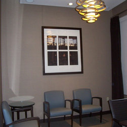 Systematic Art Inc. - Doctorsofficehanging.jpeg - Picture Hanging system - Dr. Office Reception area.