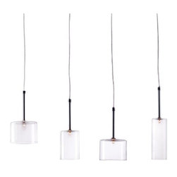 Zuo Lighting - Zuo Rain Ceiling Lamp, Clear - Our Rain Clear Ceiling Lamp makes simple look trendy with its unit shade. This interesting piece hangs from a wire. Add this striking piece to the kitchen, dinette, foyer or dining room for a warm ambiance.