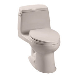 Toto - Toto MS854114EL#12 Sedona Beige Eco UltraMax Toilet, 1.28 GPF ADA - The UltraMax collection gives your bath a modern, tapered design flow and classically simple style.