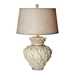 Pacific Coast Lighting - Pacific Coast Lighting 87-111-06 Artichoke Table Lamp - - Beige Almond Finish