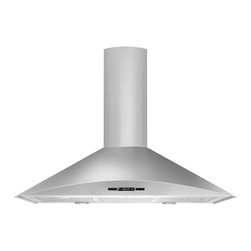 "Jenn-Air 36"" Euro-style Curved Wall Mount Canopy Hood, Stainless/blk 