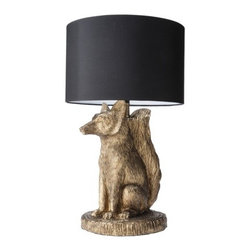 Patch Fox Lamp - Foxes are the animal of the season. This lamp is cheeky and classy all in one.