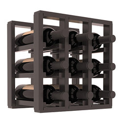 Wine Racks America® - 9 Bottle Counter Top/Pantry Wine Rack in Pine, Black Stain + Satin Finish - These counter top wine racks are ideal for any pantry or kitchen setting.  These wine racks are also great for maximizing odd-sized/unused storage space.  They are available in furniture grade Ponderosa Pine, or Premium Redwood along with optional 6 stains and satin finish.  With 1-10 columns available, these racks will accommodate most any space!!