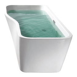 "AKDY - AKDY AK-ZF769 67"" European Style White Acrylic Free Standing Bathtub - AKDY free standing acrylic bathtubs come in many styles, shapes, and designs. The acrylic material used for tubs is very durable, light weight, and can be molded into a variety of shapes and styles which explain the large selection available in this product category. Acrylic free standing tubs are a cost efficient way to give your bathroom a unique beautiful touch. A bathtub is no longer just a piece of cast iron metal thrown into a bathroom by a builder."
