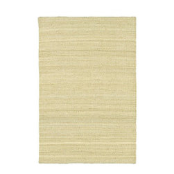Mandara - Hand-woven Mandara Natural Living Jute Rug (5' x 7'6) - Bring a touch of simple elegance to your home with this hand-woven jute rug. This rug is handmade in India and highlighted by bleached color of jute.
