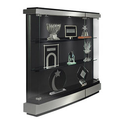 Waddell - Quantum Display Wall Case in Brushed Silver Finish - Making the most of being the best! Waddells stunning new line of contemporary cases, the Quantum Series, lets you make a striking yet exquisite statement about your company and your leadership. Each case is carefully crafted to the exact standards that have been the hallmark of Waddell products for more than a century.