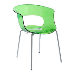 I Can See Clearly Now Chair - Set of 4 - This groovy chair has a lot of character. The translucent green quality offers a lightweight alternative to bulky chairs. Place in an entryway, then move it to the dining table when it's time for dinner.