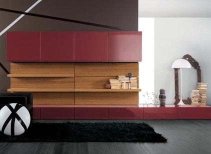 Modern Media Storage by Dayoris Custom Woodwork