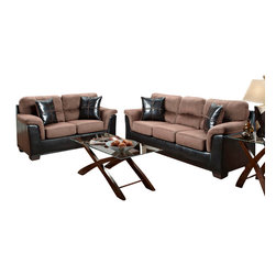 Chelsea Home Furniture - Chelsea Home Annabelle 5-Piece Living Room Set in Laredo Chocolate - Annabelle 5 Piece Living Room Set in Laredo Chocolate belongs to Verona IV collection by Chelsea Home Furniture.