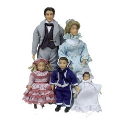 Town Square Miniatures Clark Fancy Victorian Family - This item is intended for collector dollhouses and is not recommended for children under 13 years of age.