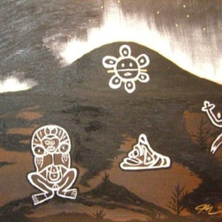 """Taino Indian Heritage (Original) by Michael Casiano - This Painting was created to symbolize Taino Indian Heritage, at which each symbol had spiritual meanings. """"The Taino Way"""""""