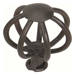Atlas Homewares - Atlas 30065-I Twisted Wire 1 1/2-Inch Small Wide Frame Door Knob Iron - Atlas 30065-I Twisted Wire 1 1/2-Inch Small Wide Frame Door Knob Iron