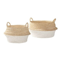 Serena & Lily - Round Belly Baskets  Set of 2 - These gorgeous baskets would be great for storing laundry supplies or smaller folded items.
