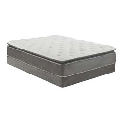 ACME Furniture - Acme Cicely  Gray California King Aloe Vera Pillow Top Mattress and Foundation - Acme Cicely 14Gray California King Aloe Vera Pillow Top Mattressand Foundation Set 29040