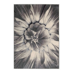 "Nourison - Nourison Utopia UTP05 2'6"" x 4'2"" Ivory Taupe Area Rug 05082 - Experience flower power! This big bold bloom takes floral to a whole new dimension in a full-blown image that's petal perfect. The vivid graphic brings a burst of excitement to your decorating scheme."