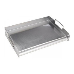 Bull BBQ - Bull Outdoor Stainless Pro Grill Griddle - The Stainless Pro Grill Griddle has easy grip handles and a reservoir on front edge catches grease.