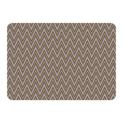 Bungalow Flooring - Premium Comfort Chevron Weave Mat, Grey - Woven polyester face captures colors and graphics in near photographic quality.