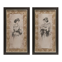 "IMAX CORPORATION - Bianca Framed Art- Set of 2 - Bianca Framed Art. Set of 2 in various sizes measuring around 44""H x 24""W x 2.5"" each. Shop home furnishings, decor, and accessories from Posh Urban Furnishings. Beautiful, stylish furniture and decor that will brighten your home instantly. Shop modern, traditional, vintage, and world designs."