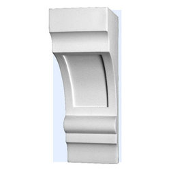 "Inviting Home - Raleigh Exterior Bracket - Exterior bracket 5-1/8""D x 9-7/8""H x 3-1/2""W Decorative bracket��s comes factory primed and is suitable for painting glazing or faux finish. This bracket is manufactured from high-density furniture grade polyurethane material that is water and heat resistant impervious to insect infestation and odor free. This qualities of material make this bracket perfect for interior and exterior applications. Polyurethane bracket is easier to install than plaster or gypsum due to their light weight dimensional stability precise tolerances and flexibility"