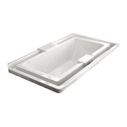 Arista - Messina 46 x 78 Endless Flow Soaker Drop-In Bathtub -  Tub with Center Drain - DESCRIPTION