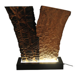 Art wood studio - Live Edge Table Light - Illuminated Sculpture: