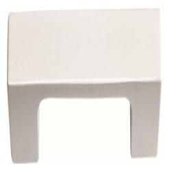 Atlas Homewares - Atlas Successi Thin Square Door Pull High-Glossed White - Atlas Successi Thin Square Door Pull High-Glossed White