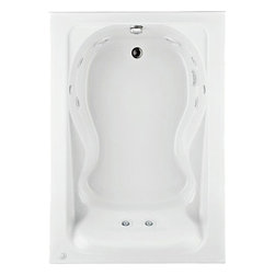 """American Standard - American Standard 2772.018WC.020 Cadet 5 x 42 EverClean Whirlpool,  White - American Standard 2772.018WC.020 Cadet 5 x 42 EverClean Whirlpool,  White. This bathtub features an acrylic construction with fiberglass reinforcement, a form-fitted backrest, molded-in armrests with elbow supports, dual accessory deck area, a pre-leveled tub bottom, an EverClean system that prevents the growth of mold, mildew, and bacteria, a single-speed pump/motor, a side-mounted air switch (on/off), two silent air volume controls, a quick connect Safe-T-Heater connection system (heater sold separately), and an 8 jet system with adjustable and multi-directional Acumax jets. It measures 60"""" by 42"""" by 19-3/4""""."""
