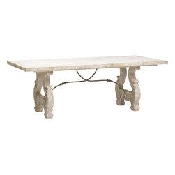Italian Lyre Dining Table -