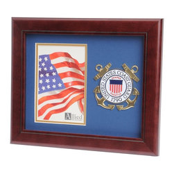 US Coast Guard Portrait Picture Frame - 10-Inch by 12-Inch Military Portrait Picture Frame