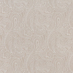 Beige, Traditional Abstract Paisley Designed Woven Upholstery Fabric By The Yard - This material is an upholstery grade jacquard fabric. It is lightweight, but is rated heavy duty and upholstery grade.