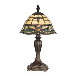 Dale Tiffany - Dale Tiffany TT10087 Victorian 1 Light Tiffany Table Lamp with Art Glass Shade - Victorian 1 Light Tiffany Table Lamp with Art Glass ShadeFeatures:
