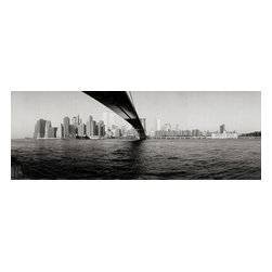 Custom Photo Factory - Brooklyn Bridge and New York Skyline Canvas Wall Art - Brooklyn Bridge and New York Skyline  Size: 20 Inches x 30 Inches . Ready to Hang on 1.5 Inch Thick Wooden Frame. 30 Day Money Back Guarantee. Made in America-Los Angeles, CA. High Quality, Archival Museum Grade Canvas. Will last 150 Plus Years Without Fading. High quality canvas art print using archival inks and museum grade canvas. Archival quality canvas print will last over 150 years without fading. Canvas reproduction comes in different sizes. Gallery-wrapped style: the entire print is wrapped around 1.5 inch thick wooden frame. We use the highest quality pine wood available. By purchasing this canvas art photo, you agree it's for personal use only and it's not for republication, re-transmission, reproduction or other use.