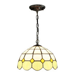 Iron Base Meditteranean Style Green White Stained Glass Tiffany Ceiling Pendant - Iron Base Meditteranean Style Green White Stained Glass Tiffany Ceiling Pendant Lights