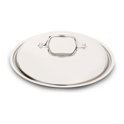 "All-Clad Stainless Steel Lid, 8"" - In a popular shape  the Anolon Advanced Nonstick Bakeware 9-"" Round Cake Pan with Silicone Grips is designed to make baking easier and more efficient while measuring up to the high standards of serious home bakers. Constructed of heavy-duty carbon steel in a medium color tone that aids in even browning  this cake pan resists warping and provides the even heat distribution that is so critical for successful baking results.  Product Features      Heavy duty carbon steel construction   Anolon SureGrip handles for a comfortable grip   Oven safe to 450 Degrees F   Durable nonstick surface allows for effortless food release   Limited lifetime warranty"