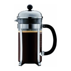 """Bodum Chambord 8-cup French Press Coffee Maker - I bought the 12-cup Bodum coffee press so I could make enough for guests when they come over. They say """"12-cup"""" but it really makes enough for 4 to 6 mugs' worth."""