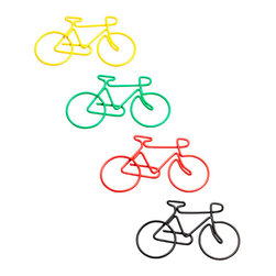 Bicycle Paper Clips - These are the kind of paperclips that I'd be careful not to unwind when I'm bored.
