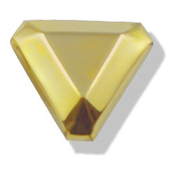 Pyramid Pull, Brass, Small - Material: Solid Brass