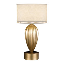 Fine Art Lamps - Fine Art Lamps 793110-2ST Allegretto Gold Leaf Table Lamp - 1 Bulb, Bulb Type: 50/100/150 Watt Medium; Weight: 27lbs