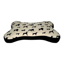 Loom and Mill - Loom and Mill DB0011 Tan Dog Bone Pet Bed - This large dog bed is not only beautifully made, but adds a touch of whimsy to your pet's life. Shaped like a bone this over-stuffed animal bed is designed for extra comfort and easy cleaning. This pet bed is great for any large animal that needs a spot of their own. Spot clean only.