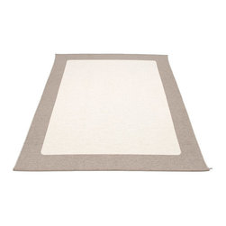 Pappelina - Pappelina Area Rug Plastic Ilda, Light Nougat/Vanilla, Ilda - This  rug from Pappelina, Sweden, uses PVC-plastic and polyester-warp to give it ultimate durability and clean-ability. Great for decks, bathrooms, kitchens and kid's rooms.