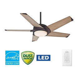 """Casablanca - Casablanca 59092 Stealth 54"""" 5 Blade Ceiling Fan - Blades and Light Kit Included - Included Components:"""