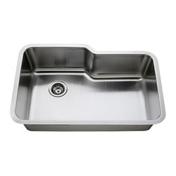 LessCare - Undermount Stainless Steel Single Bowl Kitchen Sink L108 - *Condition: New