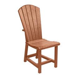 C.R. Plastic Products - C.R. Plastics Addy Dining Side Chair In Cedar - C.R. Plastics Addy Dining Side Chair In Cedar