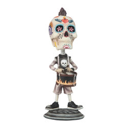 GSC - 7 Inch Day of the Dead Sugar Skull Playing the Drums Figurine - This gorgeous 7 Inch Day of the Dead Sugar Skull Playing the Drums Figurine has the finest details and highest quality you will find anywhere! 7 Inch Day of the Dead Sugar Skull Playing the Drums Figurine is truly remarkable.