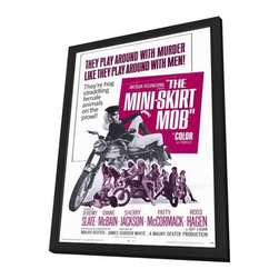 The Mini Skirt Mob 27 x 40 Movie Poster - Style A - in Deluxe Wood Frame - The Mini Skirt Mob 27 x 40 Movie Poster - Style A - in Deluxe Wood Frame.  Amazing movie poster, comes ready to hang, 27 x 40 inches poster size, and 29 x 42 inches in total size framed. Cast: Harry Dean Stanton